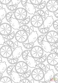 lemon pattern coloring page free printable coloring pages