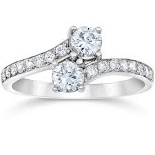 s rings si1 g forever us two diamond 1 00 ct solitaire ring