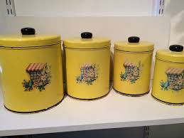 vintage metal kitchen canister sets 126 best yellow canisters images on canister sets