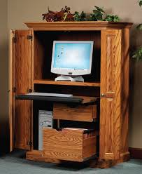 Locking Computer Armoire Heirwood Computer Armoire In Solid Hardwood Ohio Hardwood Furniture