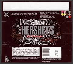 cc hershey air delight chocolate candy bar wrapper u2013 2011