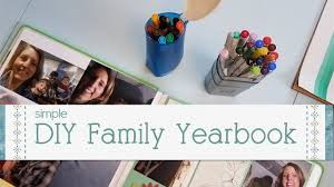 family yearbook diy family yearbook
