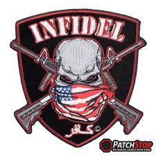 American Flag Skull American Infidel Skull And Shield Patch Patriotic Patches