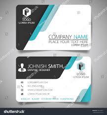 blue modern creative business card name stock vector 562147801