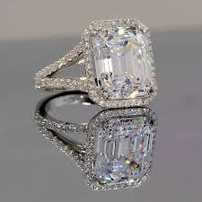 best diamond store engagement rings jewelry sterling silver canary cubic zirconia