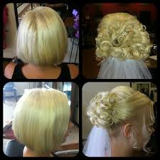Wedding Hairstyle Ideas For Short Hair by Short Hair Updo Wedding Bride Vail Updos Did This Updo On A