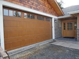 Portland Overhead Door by Gallery Ultragrain Medium Oak Finish Model Gd1lp With Rectangular