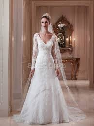 keyhole v neck a line lace court train wedding dress wedding
