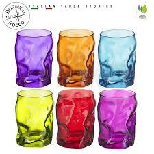 bicchieri colorati bormioli bormioli sorgente color bicchiere 30 cl set 6 pz albero shop