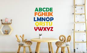 26 alphabet wall stickers alphabet decal abc decal details alphabet wall decals