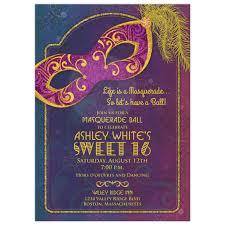 sweet 16 invitations masquerade sweet 16 invitation tones and gold mask