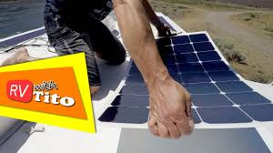 Solar Powered Rv Awning Lights How To Install A Flexible Solar Panel On An Rv Youtube