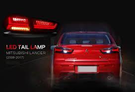 red mitsubishi lancer red audi look led tail lights for mitsubishi lancer evo x 2008