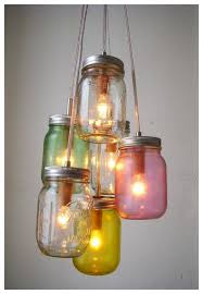 5 Jar Chandelier Awesome Ideas For Jar Pendant Light 5 Great Outdoor