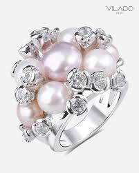 v shape diamond with fresh water pearl ring christine k jewelry deluxe fresh water pearl ring cubic zirconia with diamond vilado