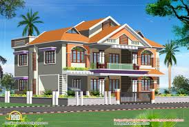 Small 3 Story House Plans Briliant Storey Sloping Roof Home Plan Kerala Home Design And