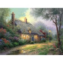kinkade moonlight cottage prints