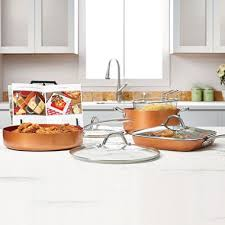 pantry chef cookware copper chef pro 8 heavy duty pan set sam s club