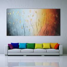 Canvas Painting For Home Decoration by 120x60cm Leaves Abstract Wall Art Painting Canvas Print Picture