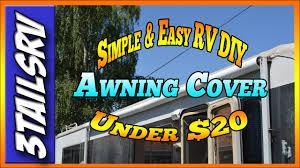Rv Awning Tape Cheap Easy Diy Rv Awning Cover Under 20 Dollars U003e 3tailsrv