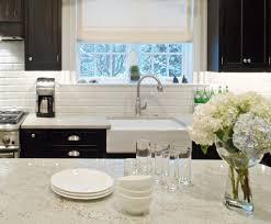 interior cool white modern kitchen decoration with quartz vs