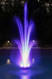 multi color changing led lights pool or pond water colored