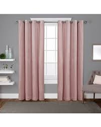 Blush Pink Curtains Bargains On Velvet Heavyweight Grommet Top Window Curtain Panel