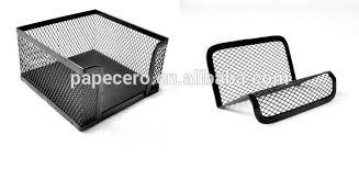 Black Wire Mesh Desk Accessories Metal Office Desk Organizer Wire Mesh Tray Set 7 Pieces Document