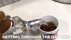 Drunk At Work Meme - drunk work gif by fluffy friends find share on giphy