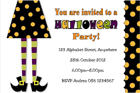 Kids Halloween Birthday Party Invitations by Personalised Witches Legs Halloween Invitation