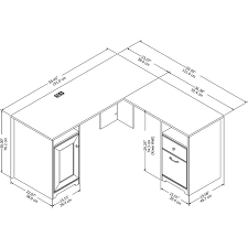 How To Measure L Shaped Desk Potluri L Shaped Executive Desk Reviews Joss