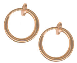 hoop clip on earrings pair of small gold color non clip on hoop earrings