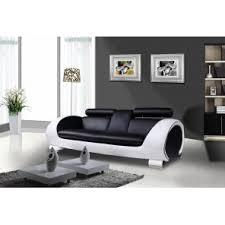 canap cuir noir pas cher canapé noir et blanc pas cher intérieur déco