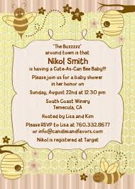 bee baby shower as can bee baby shower invitations candles and favors
