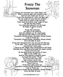 frosty the snowman lyrics frosty the snowman free printable