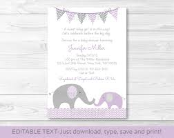 purple elephant chevron mom u0026 baby printable baby shower