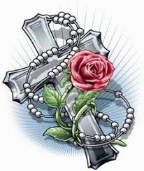 image result for rose and rosary tattoo tattoos and gorgeous art