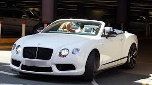 pink bentley convertible katie price goes shopping and drives in new white bentley mirror