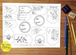 gift tag printable coloring page christmas gift tags