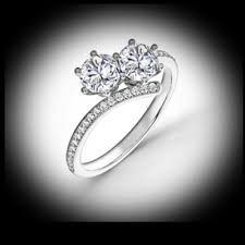two diamond ring us 1 2 ctw two diamond ring featuring forevermark diamonds