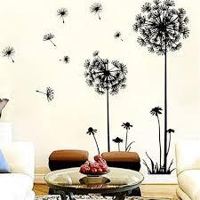 2018 pvc wall decals butterfly flying in dandelion bedroom