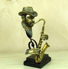 crafts for home decoration aliexpress com buy reminiscent pub saxophone player bust