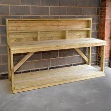 wooden work new 6ft wooden work bench with back panel heavy duty strong