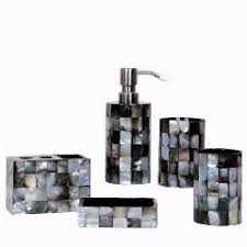 Shell Bathroom Accessories by 5 Pieces Set Natural Shell Resin Bathroom Sets Eco Friendly Luxury