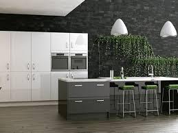 cuisine gris anthracite cuisine ilot cuisine gris anthracite mur en briques couleur