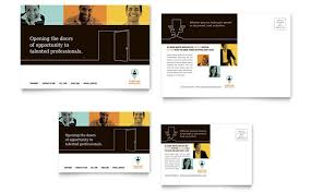 business consulting postcard templates professional services