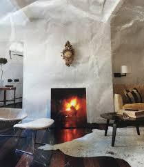 Interior Stucco Walls From White Brick To Grey Stucco Our Fireplace U0027s Metamorphosis