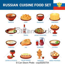 russe en cuisine cuisine plat plats icônes collection russe porridge