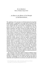 history essay sample an essay in the history of the principle of self determination studies in the history of the law of nations