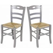 chaises cuisines lot de 2 chaises de cuisine en gris perle
